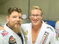 met Nathan Adamson, BJJ Globetrotters Summercamp 2016 Leuven